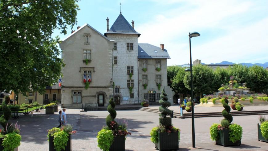 Les rues piétonnes d'Aix-les-Bains en travaux