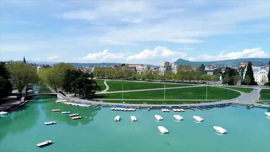 Annecy : une vidéo de la ville filmée par drone pendant le confinement