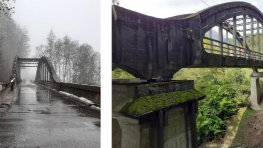 Le pont du Bouchet-Mont-Charvin en travaux ce août