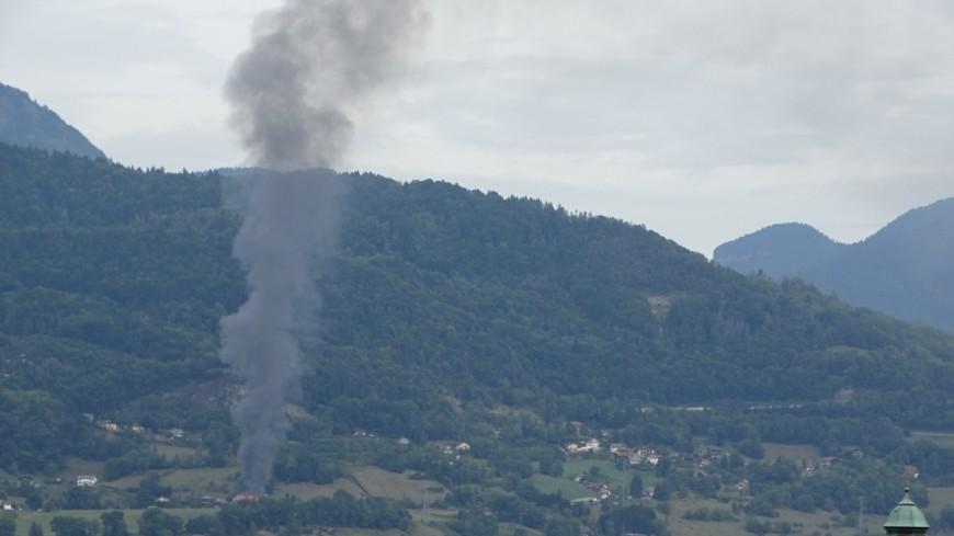 Vallée de l'Arve : une ferme partie en fumée