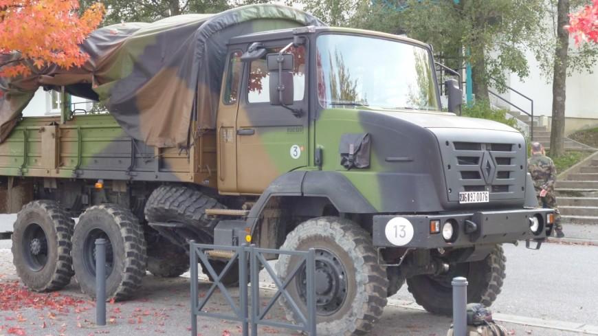 Un véhicule militaire impliqué dans un accident