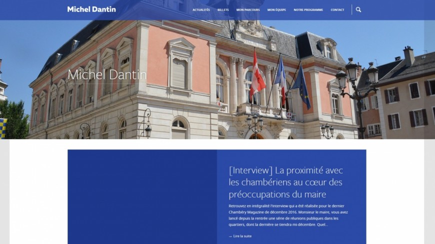 Michel Dantin lance son site internet