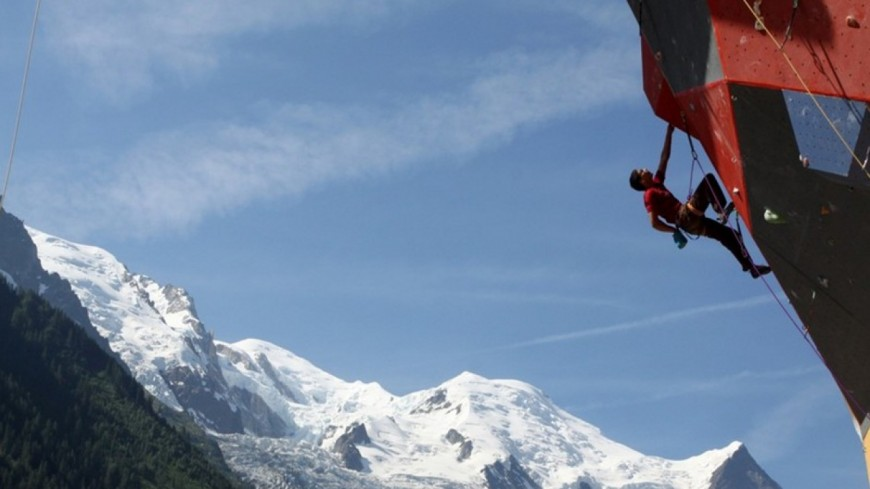 La coupe du monde d'escalade à Chamonix