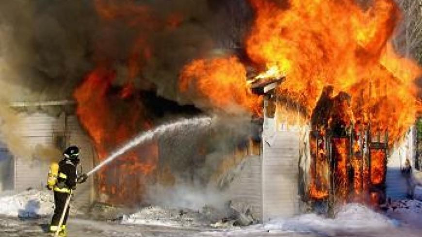 Une maison en feu à Saint-Jorioz