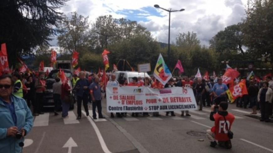 Peu de manifestants hier à Chambéry