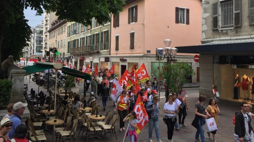 Un mouvement de grève des salariés à Chambéry