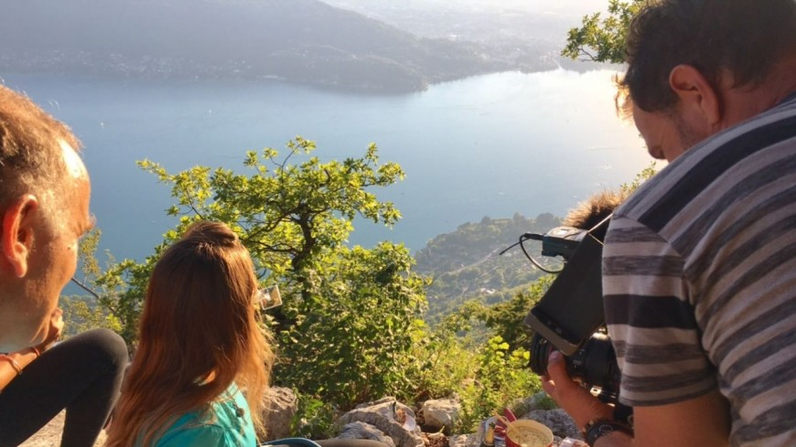 Les équipes de TF1 en tournage en Haute-Savoie