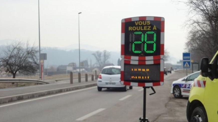 Un automobiliste en grand excès de vitesse à Marnaz