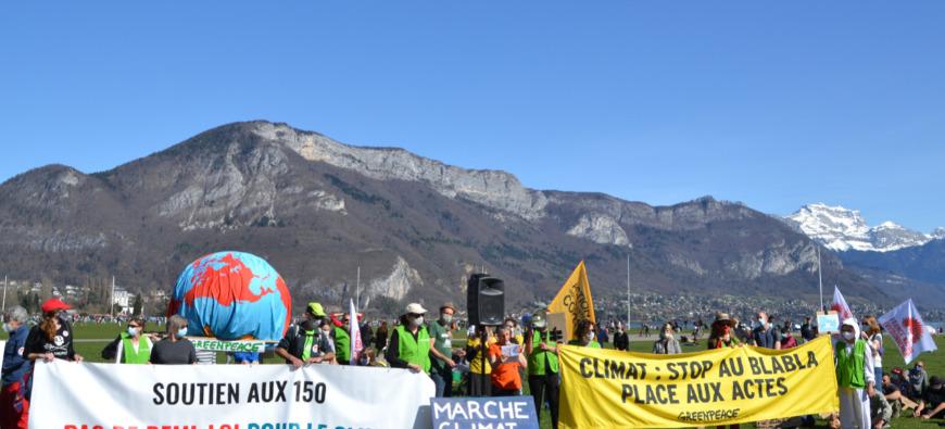 Une nouvelle marche pour le climat à Annecy ce week-end