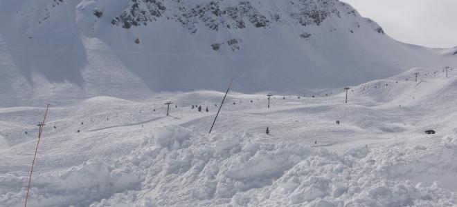 Une coulée de neige à Pralognan-la-Vanoise