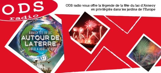 ODS radio vous offre la légende de la fête du lac d'Annecy