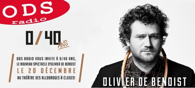 Olivier De Benoist en spectacle à Cluses !
