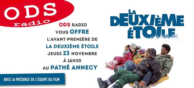 """ODS radio vous offre vos places pour la """"Deuxième étoile"""""""