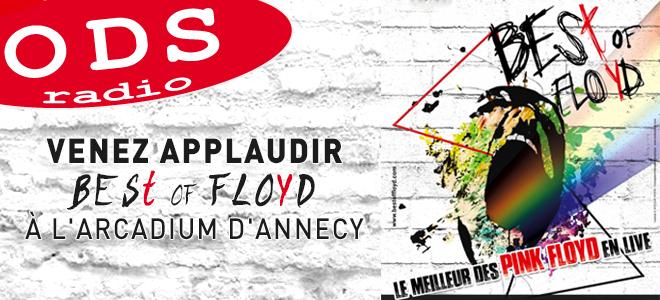 ODS Radio vous offre vos places pour le concert de Best of Floyd à Annecy