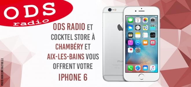 Gagnez votre iPhone 6 en écoutant ODS radio