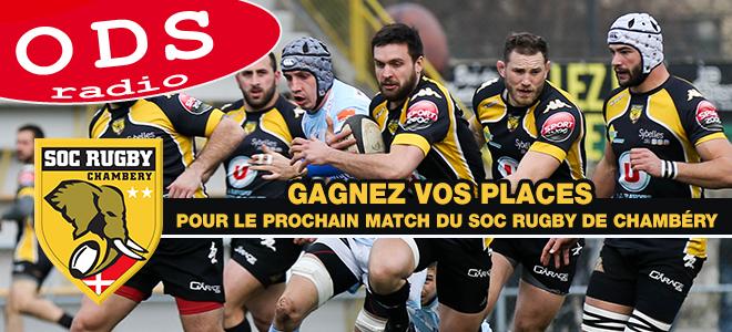 Gagnez vos places pour le match SOC Rugby / Stade Tarbes Pyrénées à Chambéry