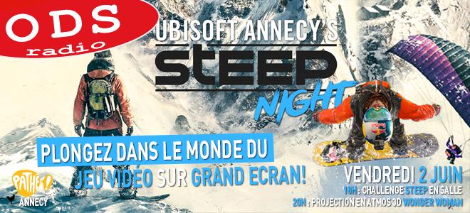 Participez à la soirée Ubisoft Annecy Steep Night